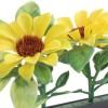 Gele zonnebloem versier - zw basis 250mm (12/p)