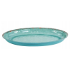 Blue Casablanca Melamine Oval Low Bowl 210x280x35